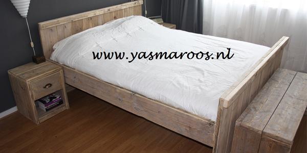 Steigerhout Slaapkamer Ideeen : Yasmaroos — Steigerhouten meubelen ...