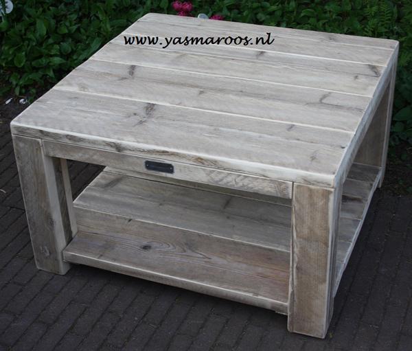 Yasmaroos salon tafel steigerhout