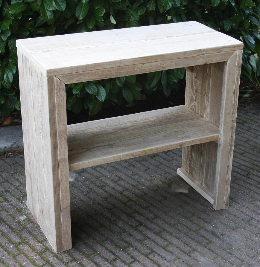 Wastafel Van Gebruikt Steigerhout 90x80x42
