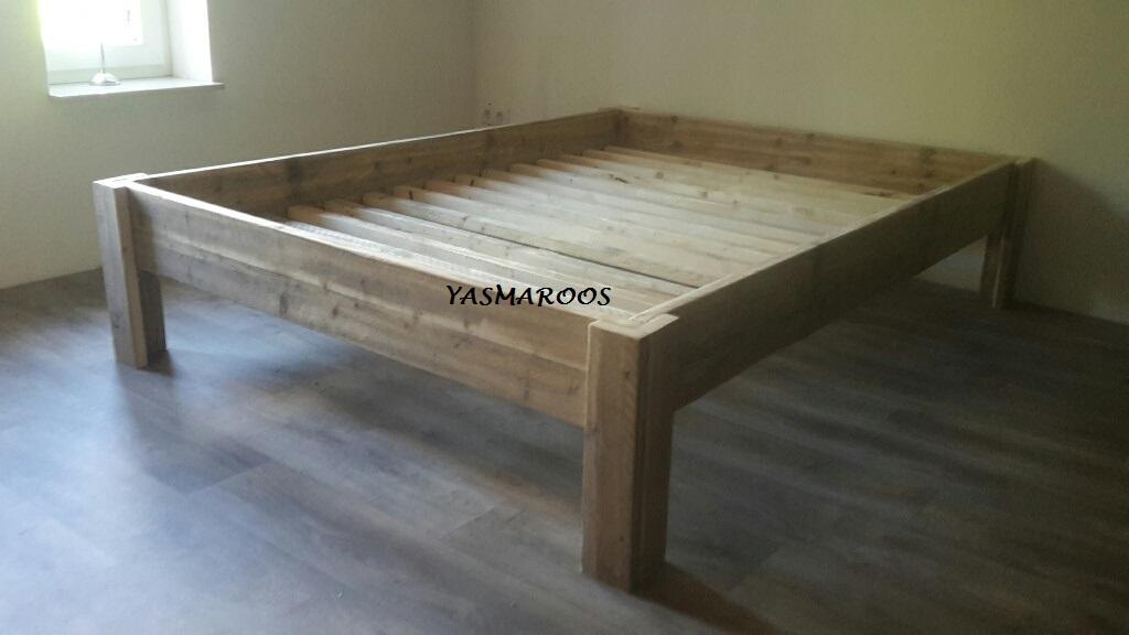 2-persoons bed steigerhout Lucas